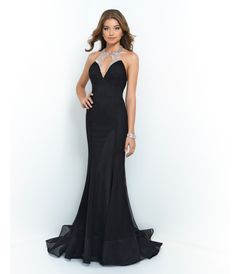 1930s Old Hollywood gown - Blush Prom 9921 Black Sequin Halter Netted Low Back Gown 2015 Prom Dresses