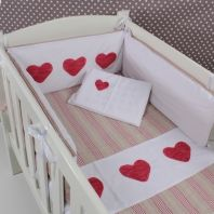 Cot linen for little girls nursery