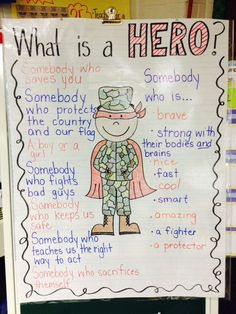 Veterans Day anchor chart! \