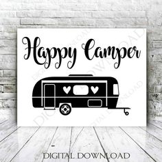 Happy Camper Clipart Pattern Set Illustrations 4 Vinyl Rh Co Uk Silhouette Clip Art Vintage