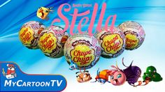 Angry Birds Stella kinder surprise eggs chupa chups unboxing