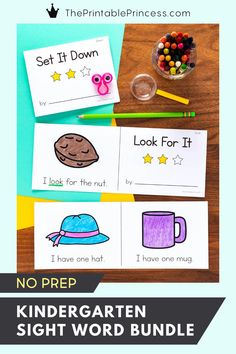This printable bundle of worksheets offer several opportunities for kindergarteners to practice sight words in a variety of ways including introducing sight words, fluency practice, small group practice, morning work, or practice at home.