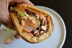 Mexican Beer Waffle w/ Carne Asada