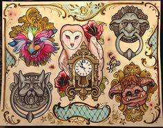 Labyrinth Inspired Tattoo Art Print by AMurderOfKrows on Etsy