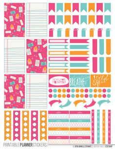Colorful Correspondence Printable Planner Stickers made to fit the Happy Planner.