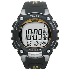 Timex Ironman Traditional 100Lap  BlackSilverYellow Watch *** Want to know more, click on the image.Note:It is affiliate link to Amazon. #MensWatch
