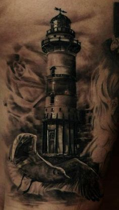 Whether you want a black and grey lighthouse tattoo to be a standalone piece or part of a larger tattoo they are a solid tattoo choice! Description from tattooartistlondon.tumblr.com. I searched for this on bing.com/images