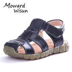 3d4422926bef 2017 Summer Kids Shoes Brand Genuine Leather Closed Toe Toddler Boys Girls  Sandals Orthopedic Beach Baby Boys Sandals Shoes 20-in Sandals from Mother    Kids ...