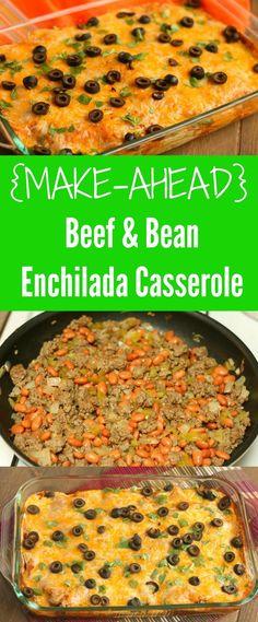beef-and-bean-enchilada-casserole #ad via http://www.chocolateslopes.com