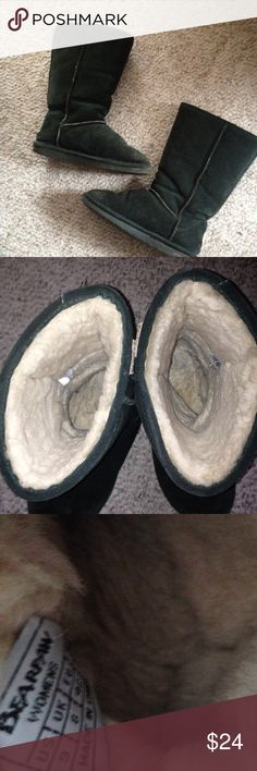 ⚡️sale! Great shape, Bear Paw boots ! Inside off white faux fur. Extremely warm and cozy perfect condition! Outside soft suede material, Bear Paw brand some signs of wear but overall great condition for worn boots. Tons of life left in them. Selling way too cheap! Dark forest green coloring. BearPaw Shoes Winter & Rain Boots