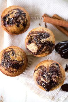 Hot Fudge Banana Bread Muffins - Apple of My Eye