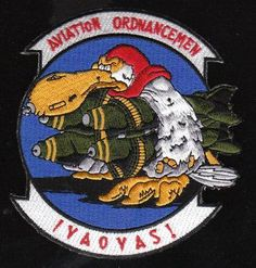 """For more information and questions. Customer care. http://militaryplus.auctivacommerce.com/ US Navy Aviation Ordnancemen IYAOYAS Military Patch Military Product Description This Navy Aviation Ordnancemen IYAOYAS Military Patch is 5 inches in size. It represents the load bearing might of the Navy AO. IYAOYAS mean a lot and for those in the ranks it means even more. This embroidered patch is approximately 4"""" in diameter. We recommend that the patch is sewn on. It is a great collectible or gift…"""