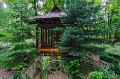 Japanese Tea House - asian - Landscape - Other Metro - Miriam's River House Designs, LLC