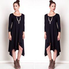 Gorgeous Classic Black Knit Dress