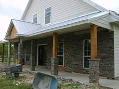 1000 ideas about rustic front porches on pinterest for Rustic porch columns