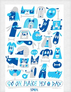 spca tea towel design - by beck wheeler