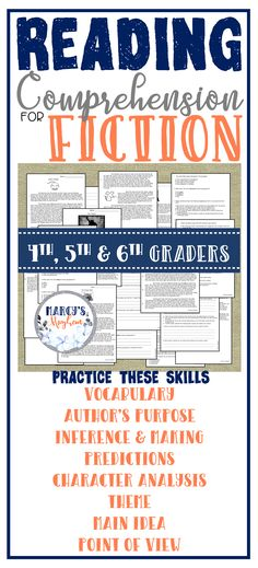 Show your students how to use context clues, make predictions, find the main idea, author's purpose, point of view, theme, figurative language and use text evidence. These reading passages will help you to see skills your readers may struggle with. These reading passages are long enough for independent work, but you can also use in a small group setting.