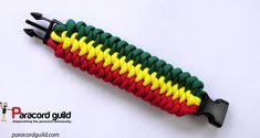 3 color mated snake knot paracord bracelet.