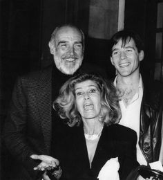 Jason Connery with his father Sean Connery and his wife, 1980s