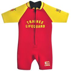 C-Skins Baby/Child Shortie Wetsuit Trainee Lifeguard Lifeguard, Wetsuit, Boy Or Girl, Athlete, Suits, Children, Swimwear, Ideas, Fashion