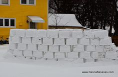 Create perfect snow bricks and build a fort out of them.