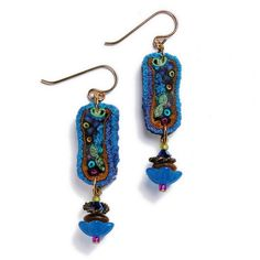 Peacock Small Bd Rectangle Earrings | Flickr - Photo Sharing!