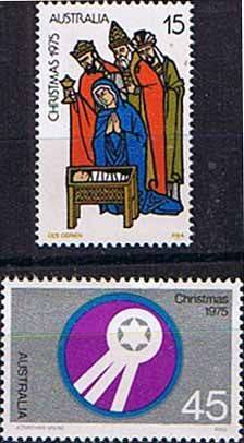 Australia 1975 Christmas Set Fine Mint SG 612 3 Scott 626 7    Other Australian Stamps HERE