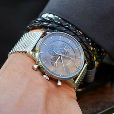 The Kinsale silver chronograph ⌚️ #grandfrankwatches  www.Grandfrank.com