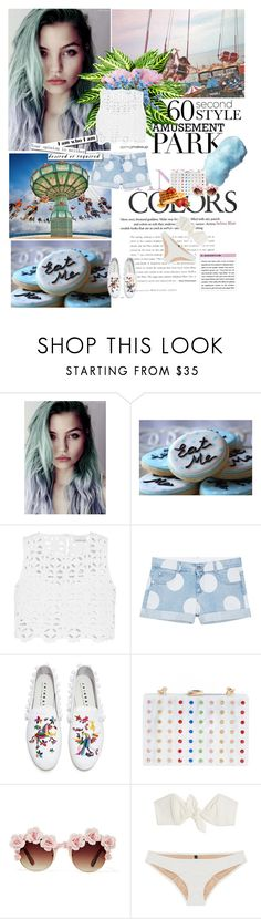 """""""MY STYLE"""" by cheroro ❤ liked on Polyvore featuring Miguelina, STELLA McCARTNEY, Joshua's, Milly, Gasoline Glamour, Lisa Marie Fernandez, amusementpark and 60secondstyle"""