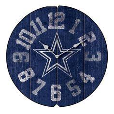 """16"""" Dallas Cowboys Vintage Wall Clock"""