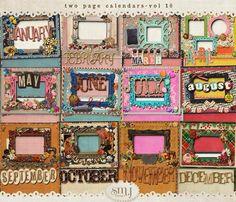 New Calendars | Shabby Miss Jenn Designs Calendar, Shabby, Frame, Scrapbooking, Design, Home Decor, Picture Frame, Frames, A Frame