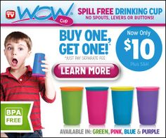 The new innovative 360 spill free drinking cup for kids.