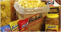Bickel's Potato Chip Company was founded in 1954 in Lancaster County, but was later bought by Hanover Foods. Corn Chips, Potato Chips, York Pa, Snack Recipes, Snacks, Lancaster County, Milk And Honey, Pennsylvania