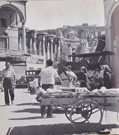 Under the Acropolis (Monastiraki) in the Greece Pictures, Old Pictures, Old Photos, Vintage Photos, Greece Photography, History Of Photography, Athens Greece, Athens City, Greek History