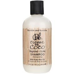 """BUMBLE AND BUMBLE """"Creme de Coco"""" shampoo ($27) ❤ liked on Polyvore featuring beauty products, haircare, hair shampoo, makeup, dry hair shampoo and bumble and bumble"""