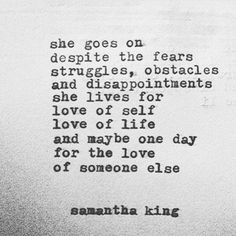 Amen! Samantha King is GREATNESS!