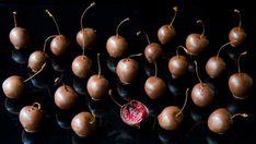 cerises enrobées de chocolat noir