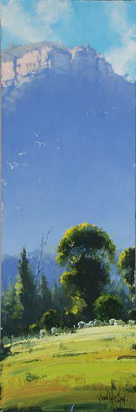 Australian landscape paintings by John Wilson.