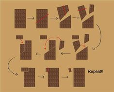 Como utilizar a matemática a seu favor para comer um chocolate eterno. Se tem uma coisa intrigante nessa vida é a matemática. Na escola, algum professor já conseguiu provar pra você que 1+1 pode ser igual a 3? Se sim, então você não vai achar tão impossível assim este truque do chocolate infinito. Sim, existe …