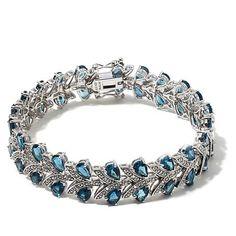 "Colleen Lopez ""Chevron"" London Blue Topaz Bracelet"