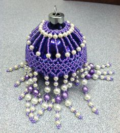 Beaded Ornament Cover -Made 2012, and kept it for myself!