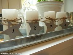 Advent Candles ... Advent Candles, Candle Sconces, Wall Lights, Lighting, Projects, Christmas, Inspiration, Home Decor, Log Projects