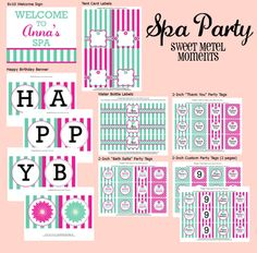 Sweet Metel Moments: Spa Party - New Printable Collection