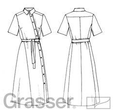 Выкройка, платье 327, магазин выкроек grasser.ru #sewing_pattern