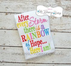 After every Storm there is a rainbow of hope - rainbow - bodysuit - miracle - baby shower