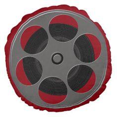 Movie Reel Round Pillow