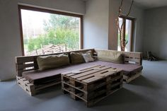 outdoor+pallet+sofa | ... From Old Pallet Wood Projects Idea For Lounge Sofa With Outdoor View