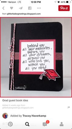 Gifts For Friends Graduation Guest Books 46 Trendy Ideas Graduation Open Houses, Graduation 2016, Graduation Quotes, Graduation Celebration, High School Graduation, Graduation Cards, Graduation Book Ideas, College Grad Gifts, Diy Graduation Gifts