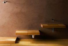 Stealth Bathroom: Wood Shelves Hide Secret Toilets & Sinks | Designs & Ideas on Dornob