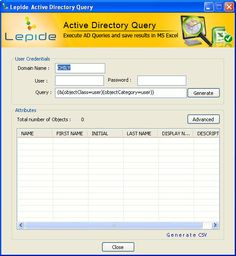 Lepide Active Directory Query  Online Working Video Demo